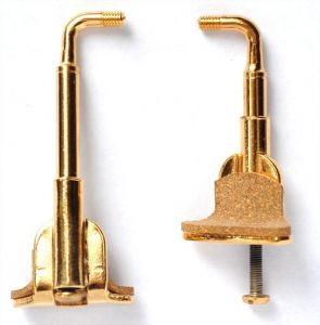 Chinrest Clamps, Wolf-goldpl, larger foot